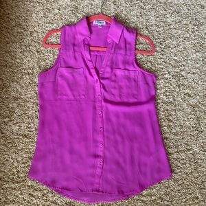 Bright purple sleeveless Express top